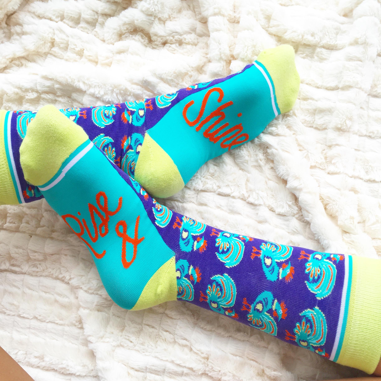 Rise & Shine Woven Pear Socks