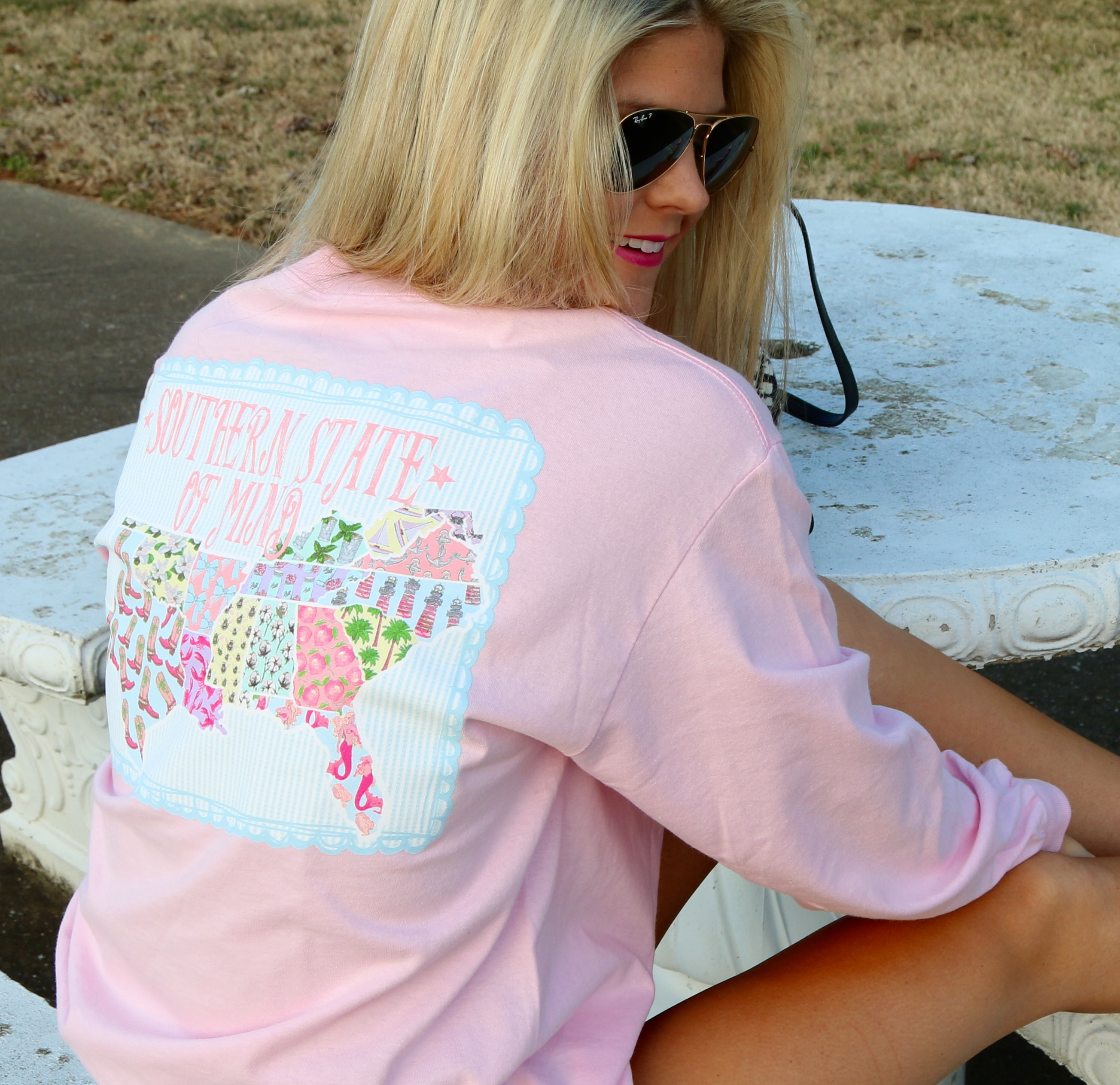 Pink State Shirt from Southern Girl Prep