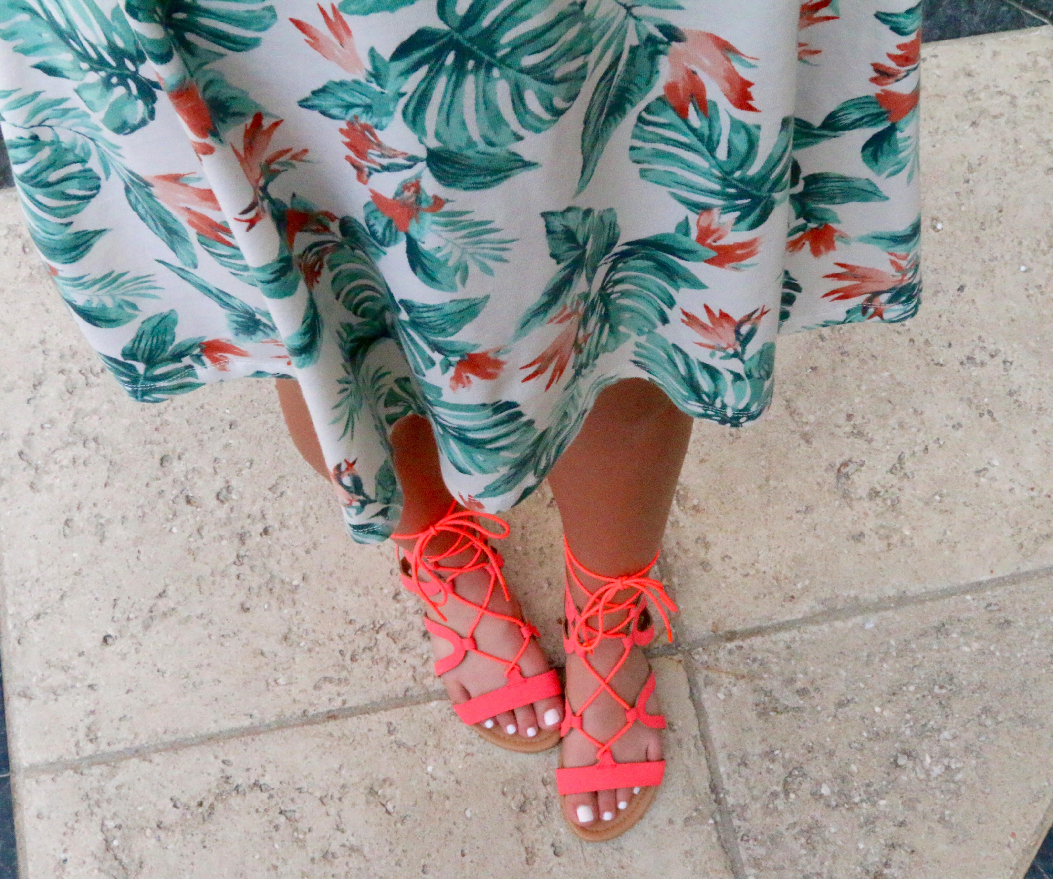Coral Gladiator Shoes
