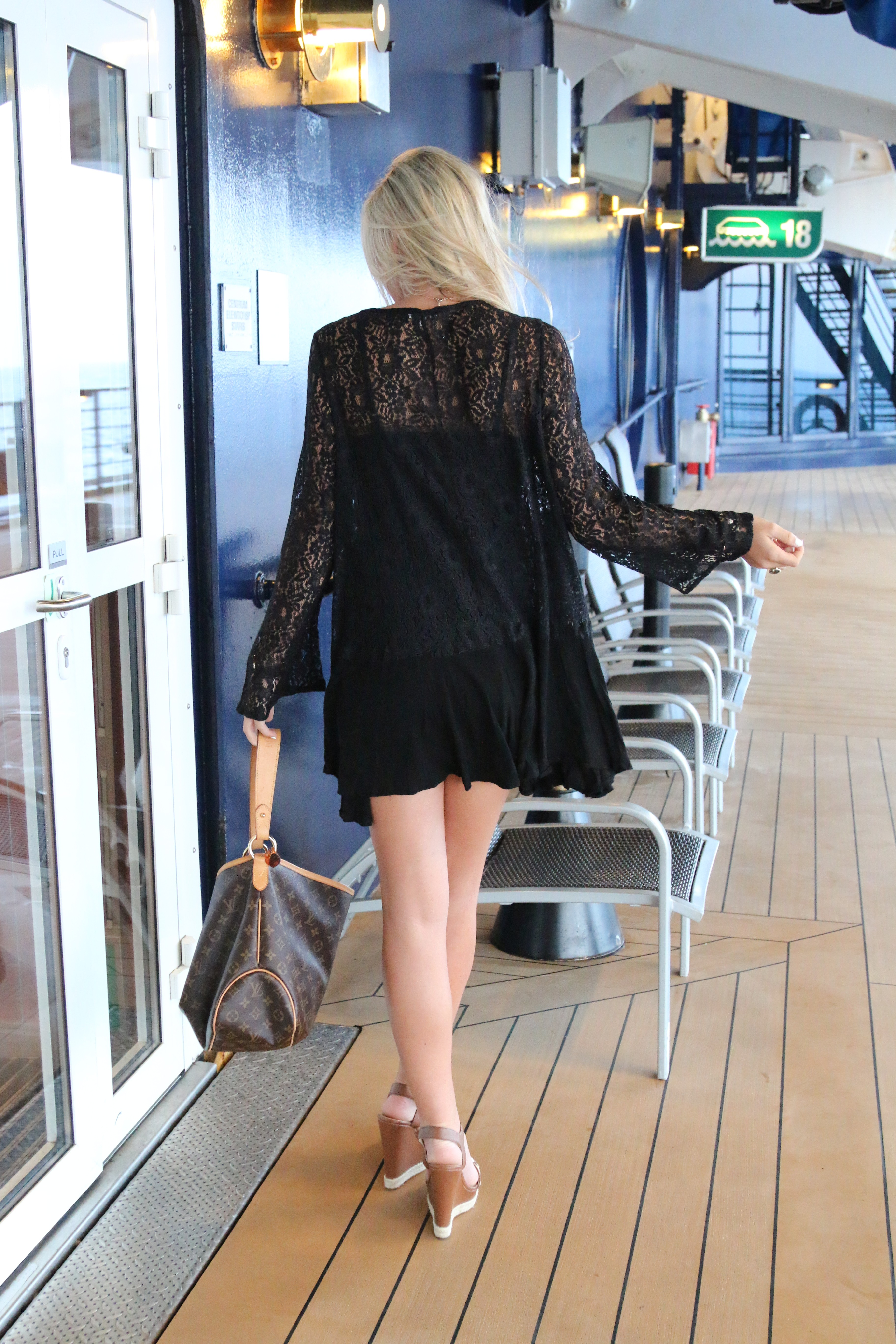 Black, Lace Dress