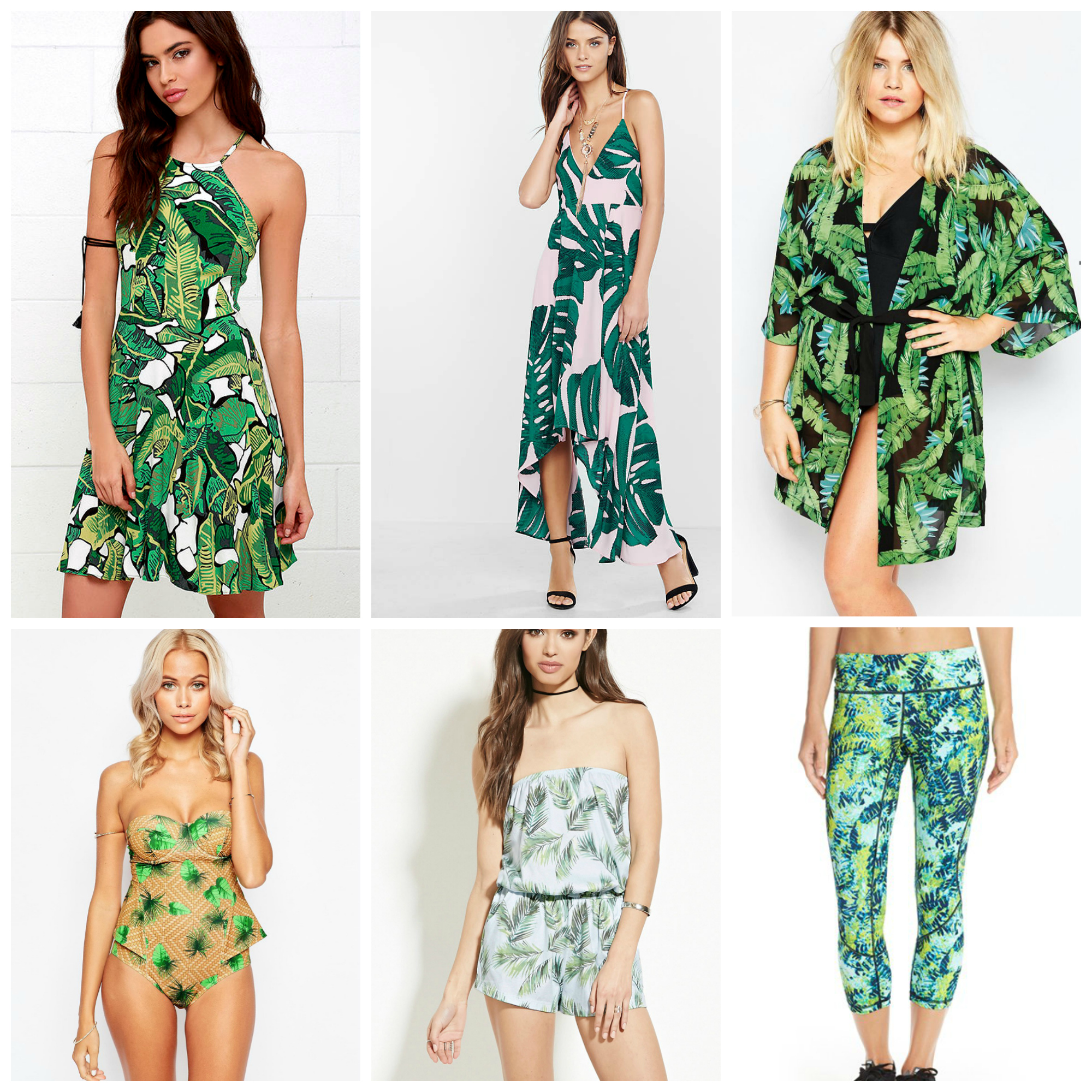 Palm Leaf Print Outfit Ideas