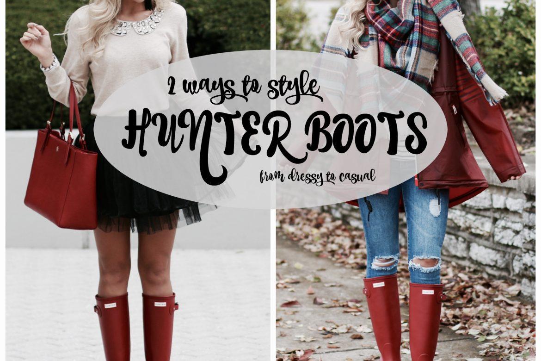 9b33eb9fd369e How to Style & Wear Hunter Boots - Beyoutiful Blog