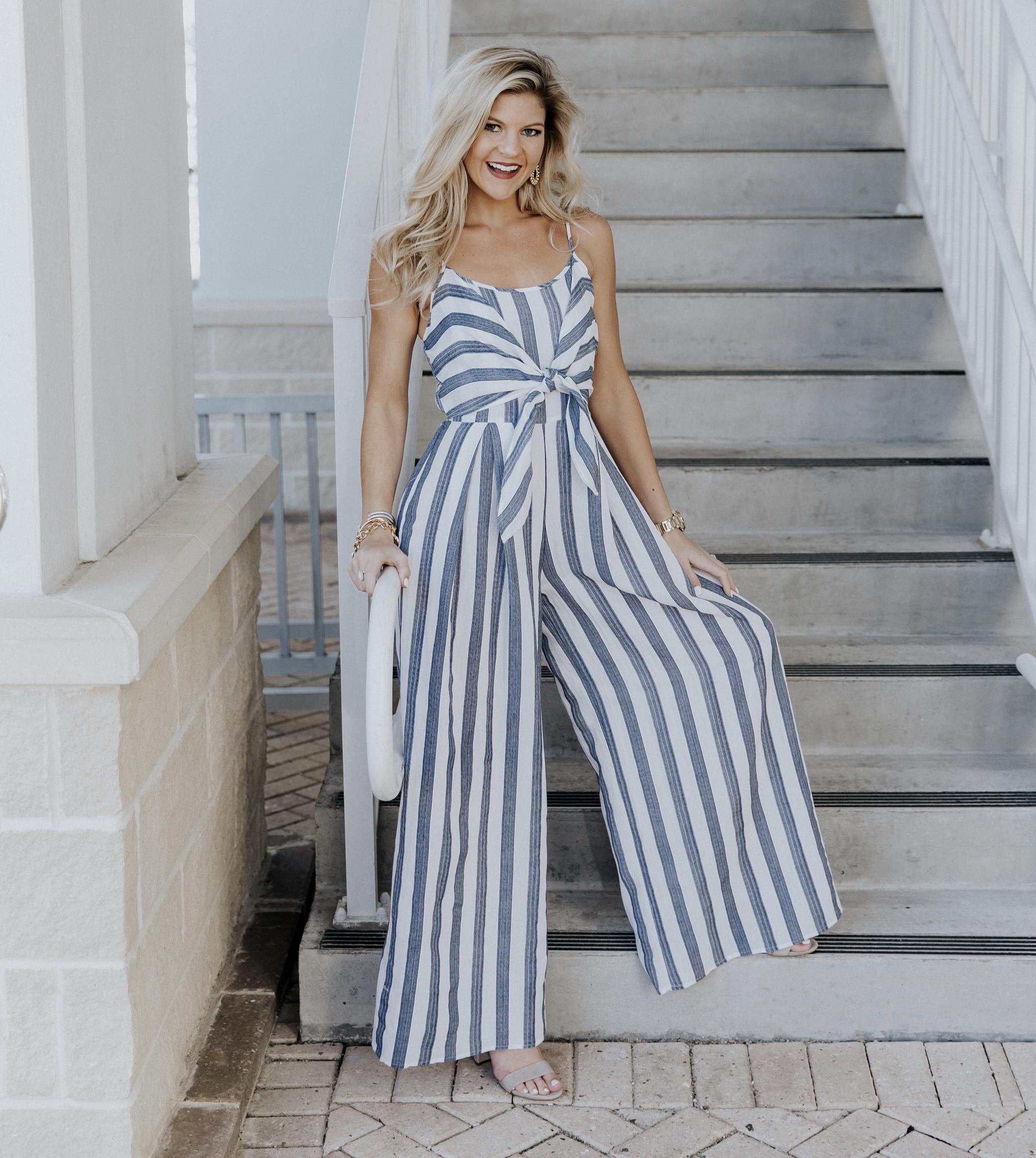 Striped Jumpsuit Beyoutiful Blog
