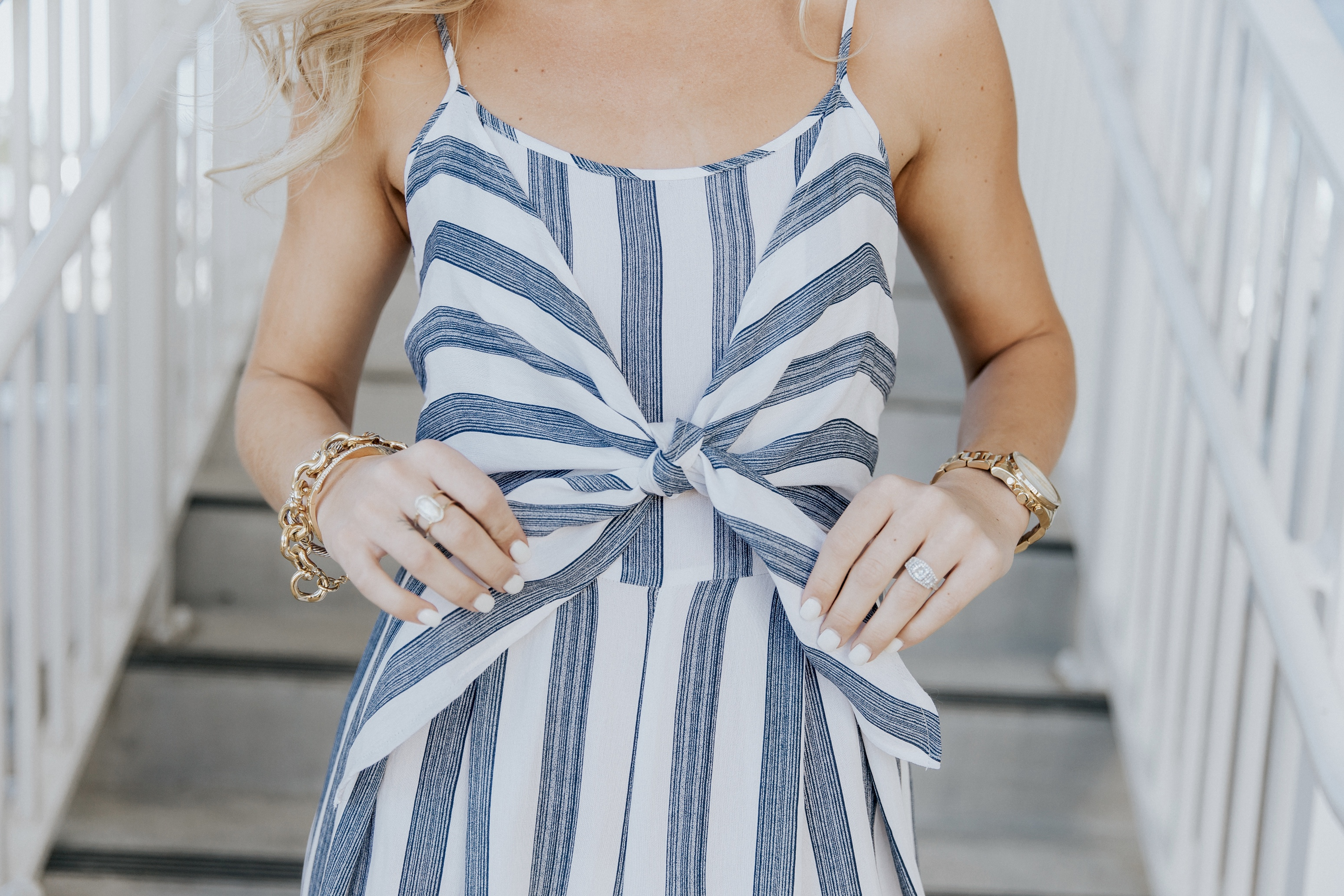 Striped Bow Jumpsuit Beyoutiful Blog