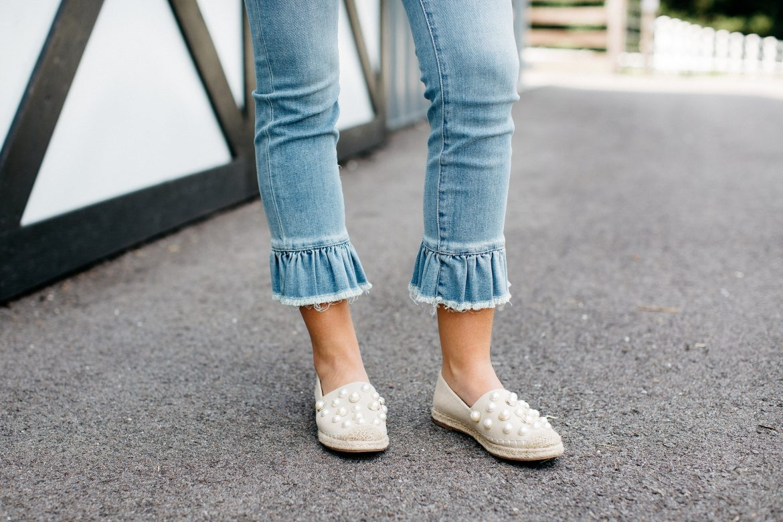 Ruffle Hem Jeans