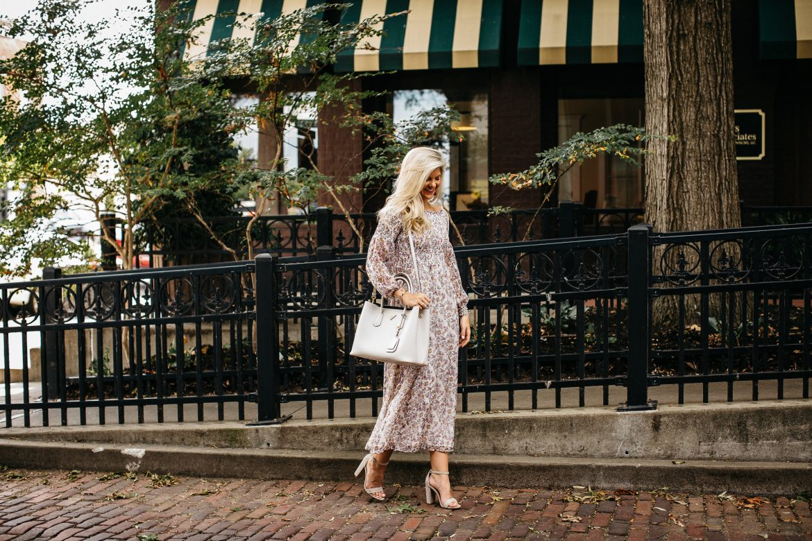 Fall, Printed, OTS Midi Dress
