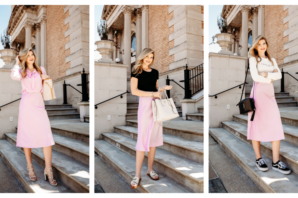 3 Ways to Style a Satin Skirt